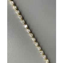 LADIES TENNIS BRACELET 14K YG WITH 46-DIAMONDS AT 3.03CT H/SI1
