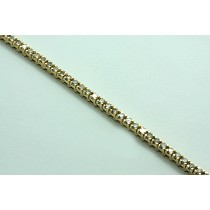 LADIES 14K YG TENNIS BRACELET w/50-DIAMONDS AT 4.90CT TOTAL WEIGHT