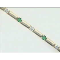 BR. 14K w/0.83CTS DIAM+EMERALD (CLOSE-OUT)