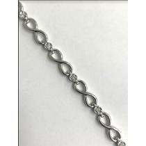 BRACELET 14K WG w/0.49CT DIAMONDS K/SI3