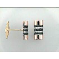 GENT'S CUFFLINK 14K w/1.46CTS DIAMONDS