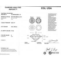 0.82 CT ROUND DIAMOND E/VVS2 EGL#US907042203D