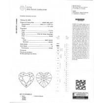 1.01 CT HEART SHAPE DIAMOND G/SI1 GIA#14187661