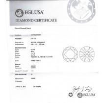 0.60 CT ROUND DIAMOND D/VS1 EGL#US908246001D