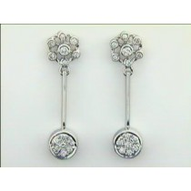 EARRING 14K w/0.50CTS DIAMONDS CLOSE-OUT