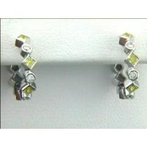 EAR. 18K w/0.59CTS DIAMONDS CLOSE-OUT