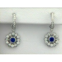 EAR 18K  w/0.65CTS DIAM'S+SAPPHIRES CLOSE-OUT