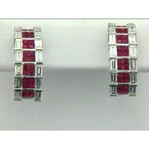EAR 18K w/1.95CTS DIAM.+RUBY'S CLOSE-OUT