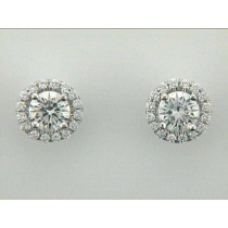 """EAR. 14K DIAM. STUDS w/0.94CTS CENTER G/VS """"SPECIAL ORDER"""""""