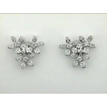 EARRING 18K w/1.15CT DIAMONDS