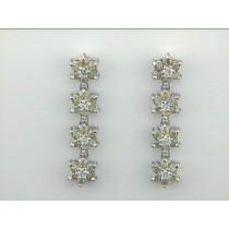 EARRING 18K w/0.64CT YELLOW+0.24CT DIAMONDS