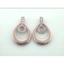 """EARRING 14K PINK GOLD w/0.29CT DIAMONDS """"SPECIAL ORDER"""""""