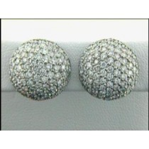 """EARRING 18K  w/3.67CTS  DIAMONDS CLUSTER """"SPECIAL ORDER"""""""