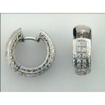 EARRING  14K w/0.56CTS DIAMONDS HUGGIES