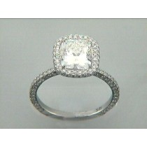 RING 18K w/1.01CT DIAMONDS (center not included)