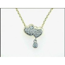 "NECKLACE 14K WG w/0.26CTS DIAMOND ""CLOSE-OUT"""