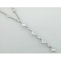 LSS NECK 18K  w/1.88 CTS DIAMONDS BY THE YARD