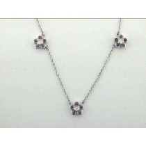 """NECK 14K w/0.13CT DIAMOND+0.74CT PINK SAPPHIRE """"SPECIAL ORDER"""""""