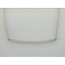 "NECKLACE 14K PINK GOLD w/0.30CT DIAMOND ""SPECIAL ORDER"""