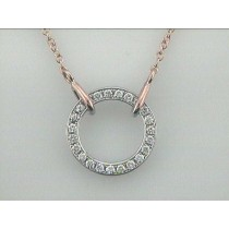 """NECKLACE 14K ROSE w/0.35CT DIAMOND """"SPECIAL ORDER"""""""
