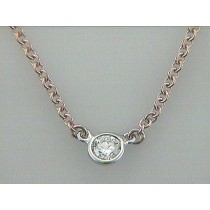 NECK. 14K PINK w/0.20CT DIAMOND BY THE YARD