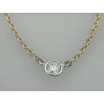 NECK. 14K YG w/0.20CT DIAMOND BY THE YARD