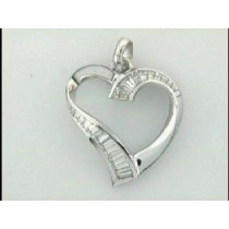 LADIES PENDENT 18K  w/1.00CTS DIAMONDS HEART