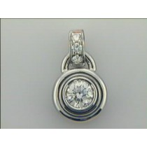 LADIES PENDANT 18K  w/0.50ct G/SI1 DIAMOND