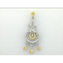 "PENDANT 18K w/0.25CTS DIAMONDS ""CLOSE-OUT"""