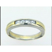 RING 18K+14K w/0.33CT BAGUETTES CLOSE-OUT