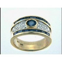 RING 18K w/0.19CTS DIAM+0.51CT SAPH. CLOSE-OUT