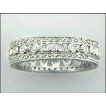 "PLATINUM w/0.58CTS DIAM'S ""CLOSE-OUT"" SIZE 6"