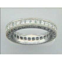 RING  PLATINUM w/2.44CTS DIAMONDS ETERNITY