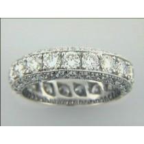 WEDDING 18K w/3.88 cts DIAMONDS ETERNITY
