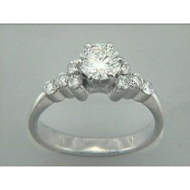 RING 18K w/0.43CT DIAMONDS(center not included)
