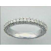 WEDDING 18K  w/1.60 CTS DIAMOND ETERNITY