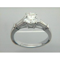 RING 18K w/0.60 CT DIAMONDS (center not included)