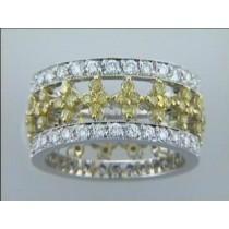 """WEDDING  18K w/2.65CTS w/YELLOW DIAMONDS ETERNITY """"SPECIAL ORDER"""""""