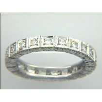 WEDDING  PLATINUM w/0.54CTS DIAMONDS ETERNITY