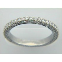 WEDDING PLATINUM w/1.10CTS DIAMONDS ETERNITY
