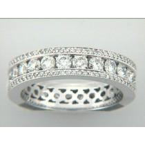 WEDDING  18K W/2.52CTS DIAMONDS ETERNITY