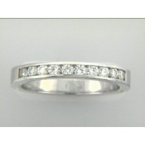 LADIES WEDDING BAND 14K w/0.40CTS DIAMONDS
