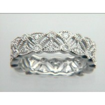 "PLATINUM w/0.35CTS DIAM. ""CLOSE-OUT"" SIZE 6 1/4"