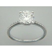 RING 18K w/0.34 CT DIAMONDS (center not included)
