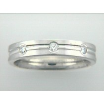 "RING 14K w/0.32CTS DIAMONDS 4MM ""CLOSE-OUT"""