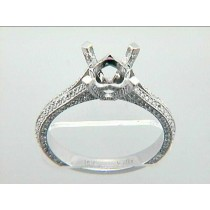 LADIES ENG  18K w/0.57CTS DIAM'S MICRO PAVE