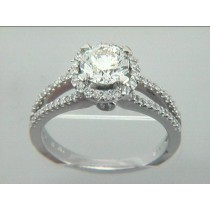RING 18K w/0.38CT DIAMONDS (center not included)
