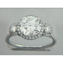 RING. 18K w/0.93CTS DIAMONDS (center stone extra)