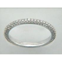 WEDDING RING 18K w/0.85CTS ROUND DIAMONDS