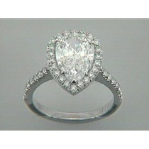 RING 18K w/0.49CT DIAMONDS (center not included)